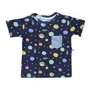 Camiseta BioBaby Kids Bolso Sistema Solar