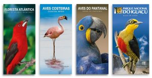 COMBO 4 GUIAS: FLORESTA ATLANTICA+COSTEIRA+PANTANAL+FOZ