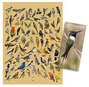 COMBO: Poster + Guia das Aves do Cerrado