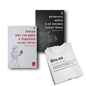 KIT A Bruxa e a Princesa_Livros com camiseta verbete Bruxa