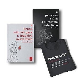 KIT A Princesa e a Bruxa_Livros com camiseta verbete Princesa