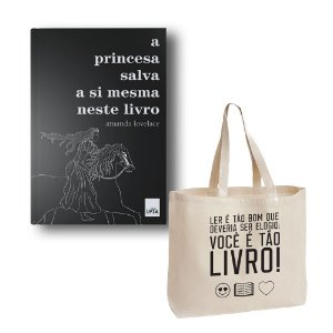 KIT A Princesa + Ecobag Ler é tão bom!_Emoticon