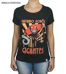 Camiseta Clássica - Matando Robôs Gigantes