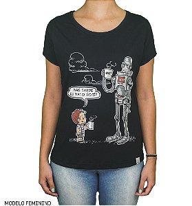 Camiseta Robô Café - Matando Robô Gigantes