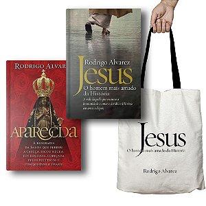KIT com livros Aparecida + Jesus | Rodrigo Alvarez com Ecobag