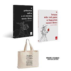 KIT A princesa salva a si mesma neste livro + A bruxa não vai para a fogueira neste livro com Ecobag BRINDE