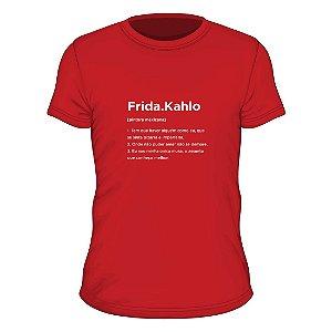 Camiseta vermelho rouge verbete Frida Kahlo
