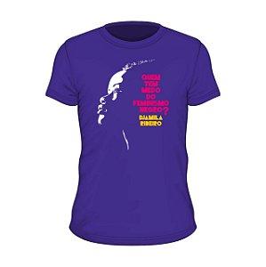 Camiseta roxa Djamila - Quem tem medo do feminismo negro