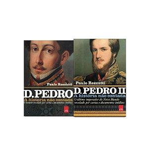 KIT livros A história não contada - D Pedro + D Pedro II