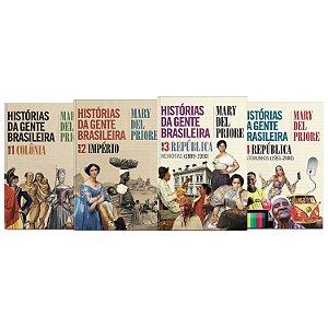 KIT livros Histórias da gente brasileira - Vol 01 – Colônia + Vol 02 - Império +  Vol 03 – República: Memórias (1889-1950) + Vol 04: República - Testemunhos (1951-2000)