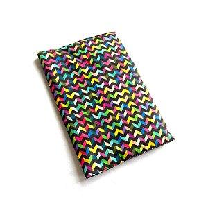 Capa protetora para livro_Estampa ZIG-ZAG coloridos
