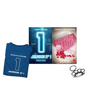 KIT Livros Jogador N1 + Clube da Luta + BRINDE Camiseta e chaveiro soco inglês