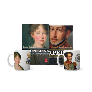 KIT Livros e Canecas - D Leopoldina e D Pedro I