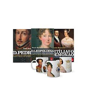 KIT Livros e Canecas - D Leopoldina, D Pedro I e Titília e o Demonão