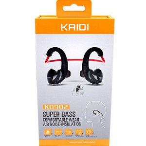 Fone de Ouvido Bluetooth Kaidi KD902 com Microfone