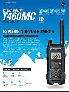 Radio Talkabout T460mc Motorola Recarregável 22 Canais Comunicação Frs