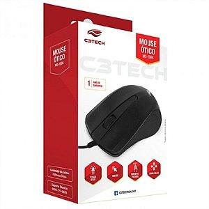 MOUSE C3TECH MS-20BK USB PRETO 1000 DPI | COM FIO