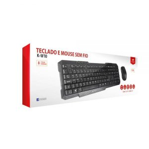 Kit Teclado e Mouse C3 Tech Wireless K-W10