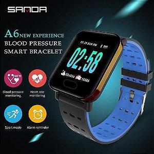 Smartwatch A6 Sport WatsApp Face Android e IOS Dourado - Smart Bracelet
