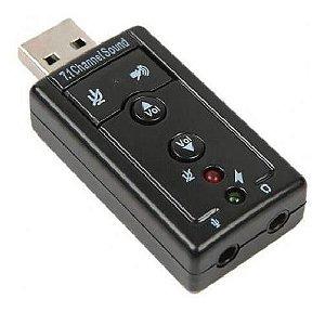 Adaptador de Som USB Virtual 7.1
