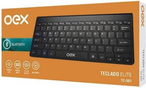 Teclado Bluetooth Elite Slim Oex Tc-501 - Preto