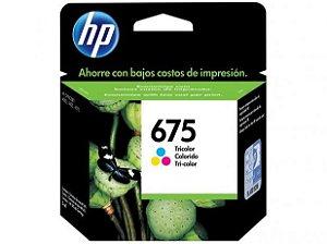 Cartucho de Tinta HP 675 - Colorido - Original
