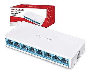Desktop Switch Hub Mercusys 8 Portas 10/100mbps Ms108
