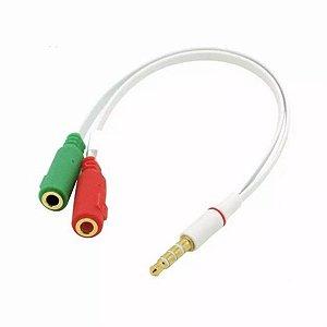 Cabo de Audio Adaptador P2 X 2P2 F para Headset