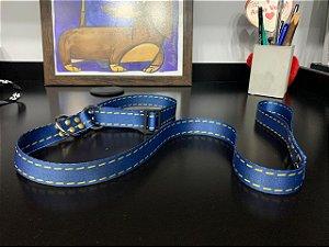 Guia para Cachorro Satin Control Azul Jeans LuckyPet