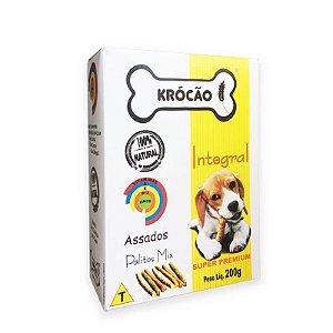 Biscoito Natural para Cachorro Palito Mix 200g Krocão