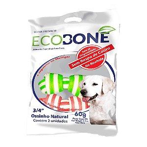 Ossinho Colorido para Cachorro Natural 3/4 com 2 un - EcoBone