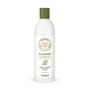 Shampoo Ingredientes Naturais Cães Gatos Própolis Verde 500ml Propovets