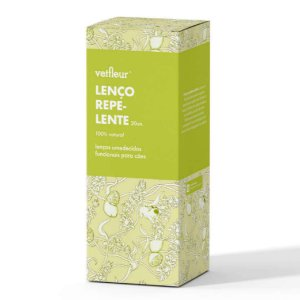 Lenço para Cachorro Repelente Natural 20un Aromaterapia Vetfleur