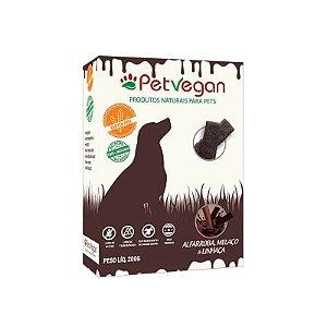 Biscoito Natural para Cães Alfarroba Melaço Linhaça Sem Glúten 200g PetVegan