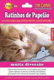Brinquedo Ratinhos de Papelão PetPira
