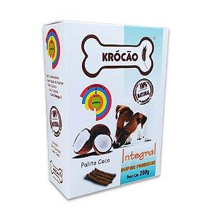 Biscoito Natural para Cachorro Palito de Coco 200g Krocão