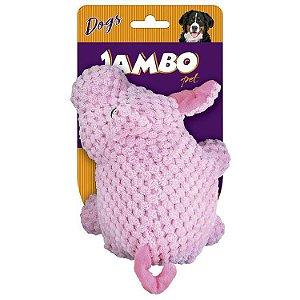 Brinquedo Mordedor Porco Pelúcia - Jambo Pet
