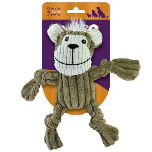 Brinquedo Mordedor Nó Macaco Pelúcia - Jambo Pet