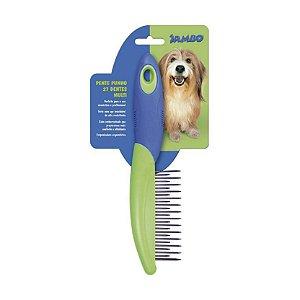Pente para Cachorro Punho 27 dentes multi Jambo Pet