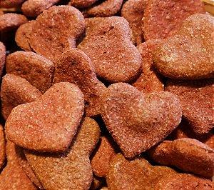 Biscoito Artesanal Natural para Cachorro de Coração Bovino - Baba Cão