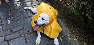 Capa de Chuva Amarela Para Cachorro - PetFellice
