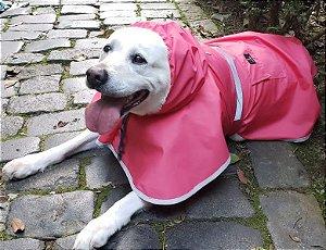 Capa de Chuva Rosa Para Cachorro - PetFellice