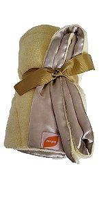 Manta para Cachorro Cobertor e Cetim Dupla Face Amarelo ZenPet