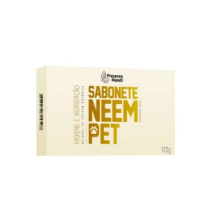 Sabonete Natural para Cães Gatos Neem Pet 120g Preserva Mundi