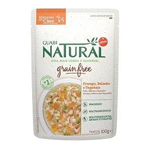 Alimento Úmido Sachê Frango, Salmão e Vegetais Grain Free - Guabi Natural