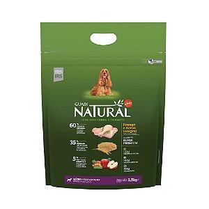 Ração Natural Frango e Arroz Integral para Cães Adultos Médio Porte - Guabi Natural