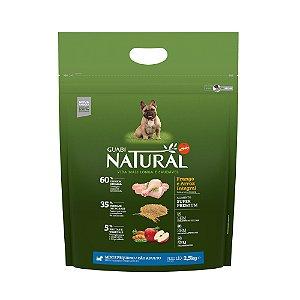 Ração Natural Frango e Arroz Integral para Cães Adultos Mini e Pequeno Porte - Guabi Natural