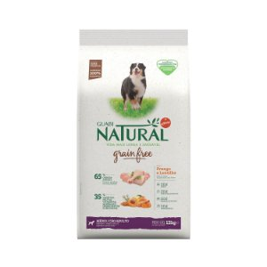 Ração Natural Frango Lentilha Cães Adultos Porte Médio Grain Free Guabi Natural