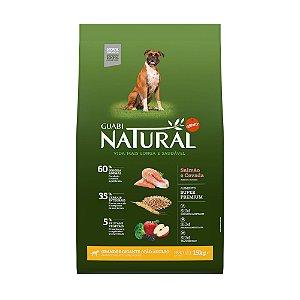 Ração Natural Salmão e Cevada para Cães Adultos Gigante e Grande Porte - Guabi Natural