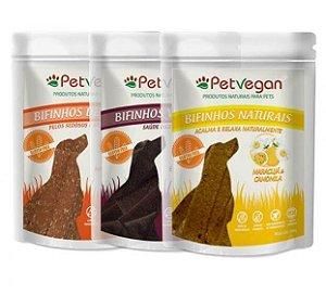 Kit 3 Bifinhos para Cachorro Naturais sem Glúten PetVegan